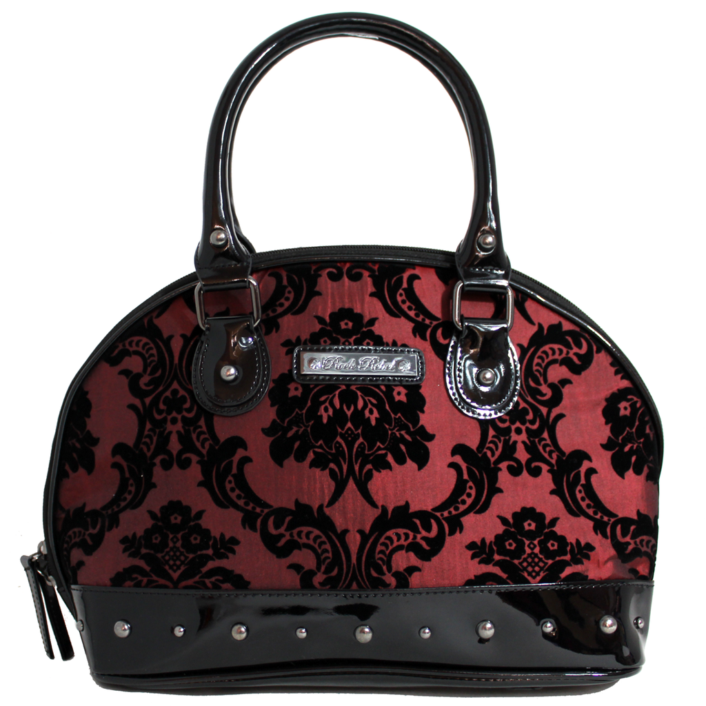Damask Margaux Handbag In Deep Red