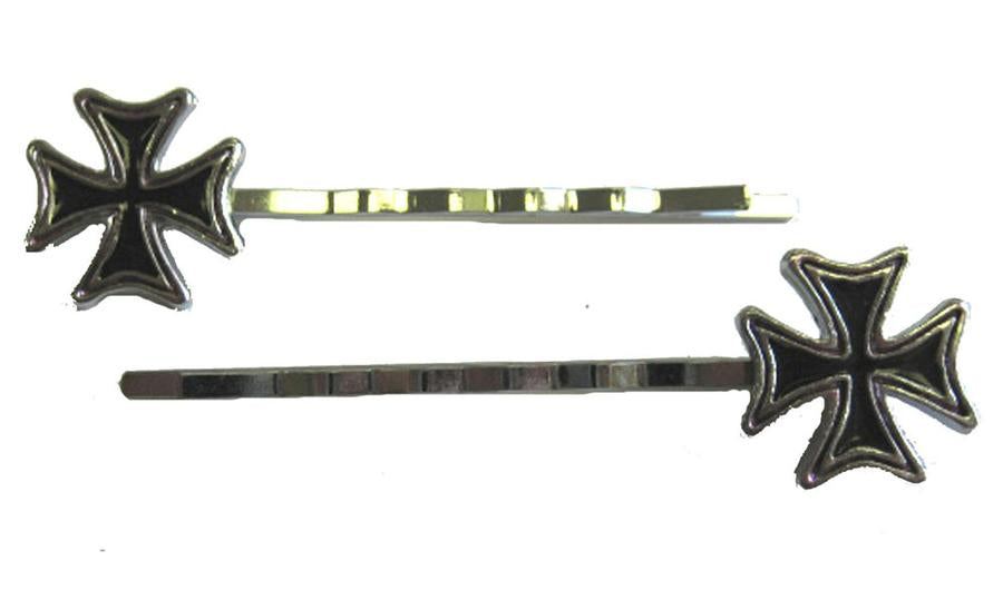 Iron Cross Hair Pins