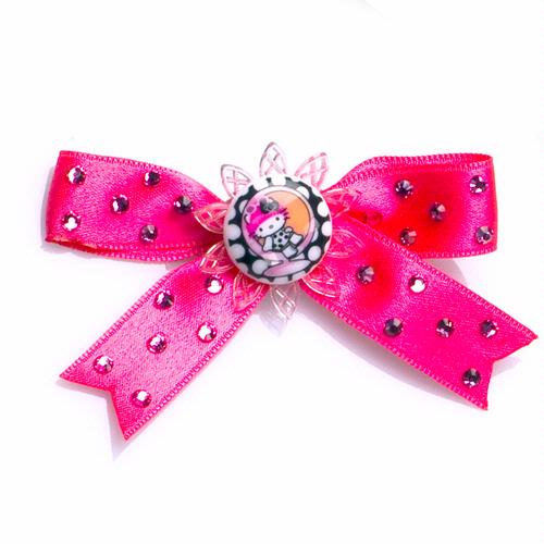 Pink Head Mod Satin Bow - Pink