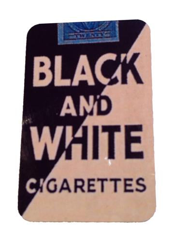 Black and White Cigarettes Magnet