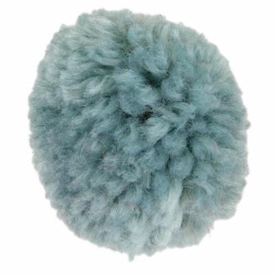 Yarn Pom-Pom Hairclip - Blue