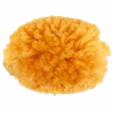 Yarn Pom-Pom Hairclip - Orange