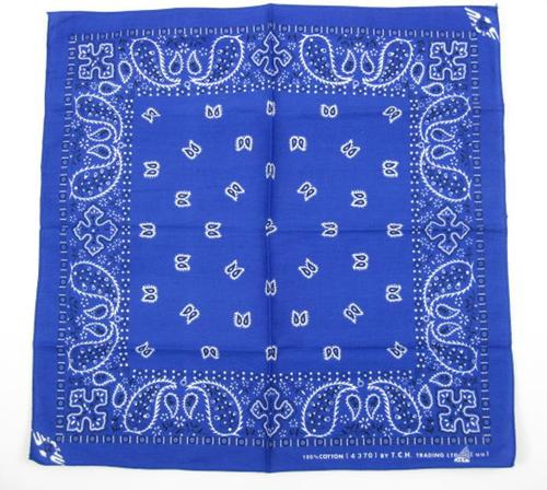Blue Traditional Bandana