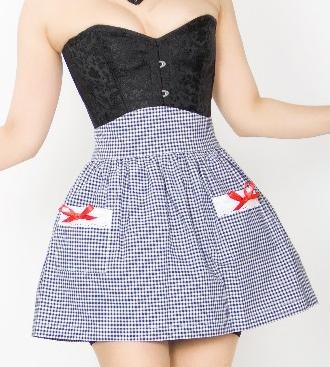 Gal Next Door Apron - Navy Gingham