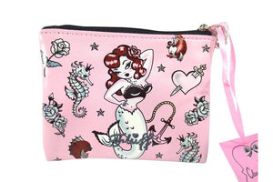 Molly Mermaid Pink Flat Coin Purse