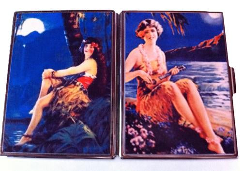 Hula Girl Card Case