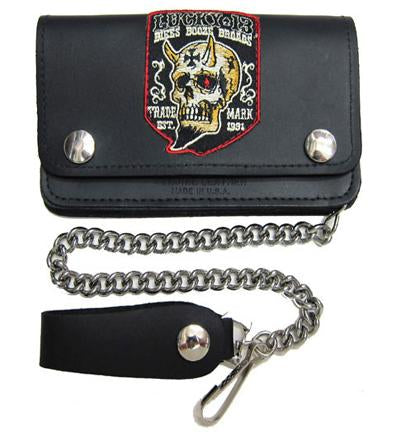 Booze Bikes Broads Chain Wallet
