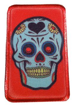 Sugar Skull on Red Patch