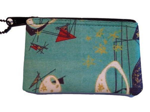 Aqua Retro Change Purse