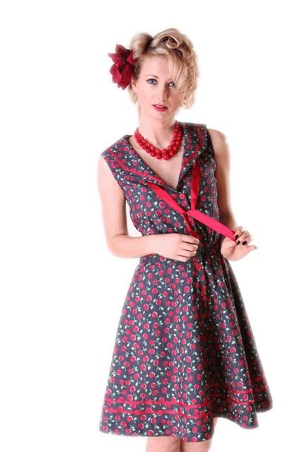 Cherry Denim Dress