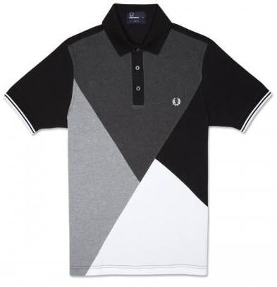 Argyle Cut and Sew Polo Shirt
