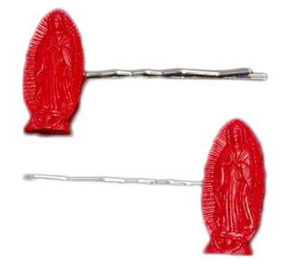 Guadalupe Hair Clips - Red