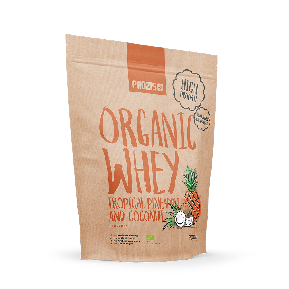 Organic whey protein - pineapple coconut (900g)