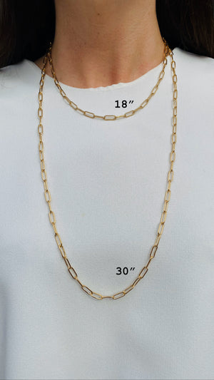 18 inch Paperclip Chain