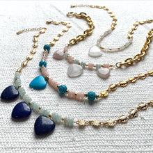 Load image into Gallery viewer, Lapis Heart Necklace