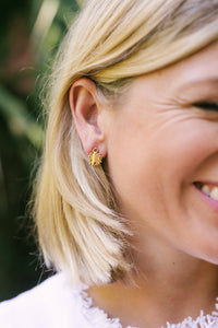 Tiny Goldbug Stud Earring