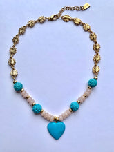 Load image into Gallery viewer, Turquoise Heart Necklace