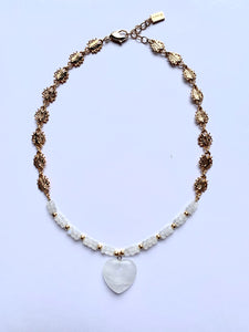 Rock Crystal Heart Necklace