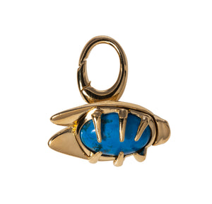 Turquoise bug fob Goldbug Collection