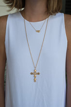 Load image into Gallery viewer, Goldbug Cross Necklace