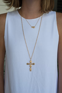 Goldbug Cross Necklace