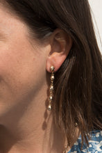 Load image into Gallery viewer, Palmetto Textured Long Drop Earrings