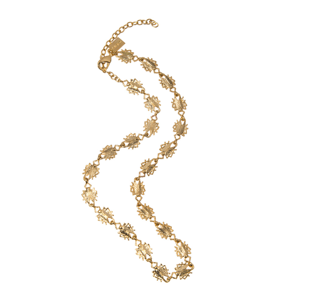 Tiny Goldbug Short Necklace