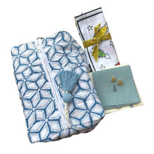 Load image into Gallery viewer, Madison Mathews Blue Flower Print X Goldbug Collection Bundle