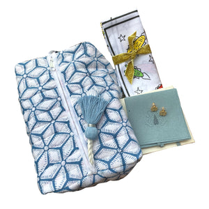Madison Mathews Blue Flower Print X Goldbug Collection Bundle