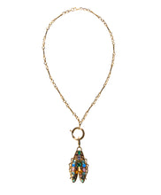 Load image into Gallery viewer, Rainbow gemstone bug on 16 inch chain Goldbug Collection