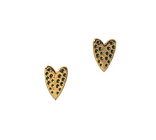 Load image into Gallery viewer, Love on Top Heart Stud Earrings