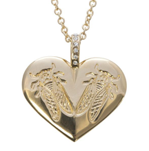 Load image into Gallery viewer, LoveBug Heart Necklace