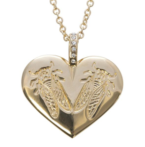 LoveBug Heart Necklace