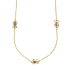 Long Goldbug Station Necklace