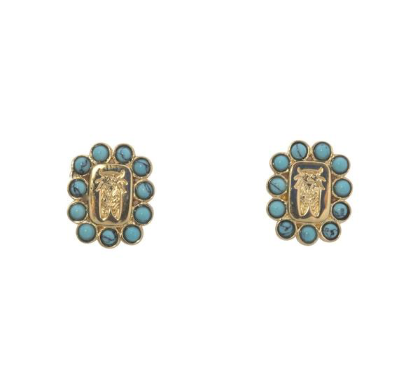 Turquoise Crest Earrings