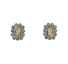 Load image into Gallery viewer, Turquoise Crest Earrings