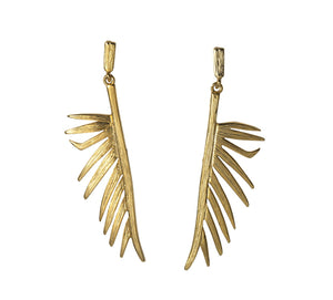 Split Palmetto Frond Earrings