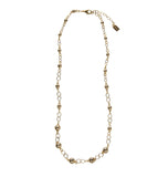 "Palmetto Textured 24"" Necklace"