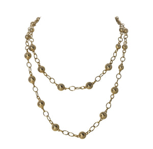 "Palmetto Textured 18"" Necklace"