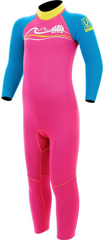 Alder toddlers wetsuit pink
