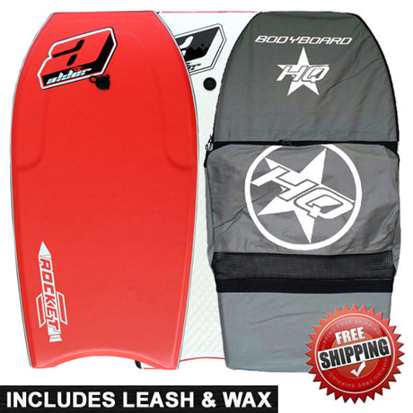 Alder Rocket bodyboard package deal