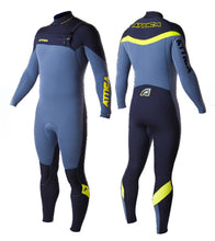 Load image into Gallery viewer, Attica Alpha 3/2 Ash/Black/Yellow Wetsuit