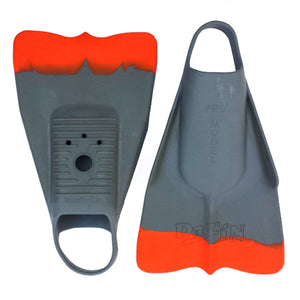 DaFin Bodysurfing fins Grey Orange