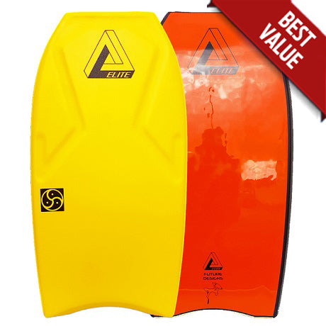 Elite Carve Bodyboard Yellow/Orange