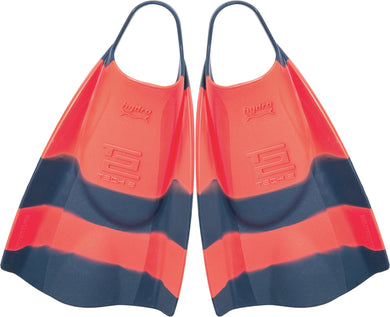 Hydro Tech 2 fins Red Navy Stripe