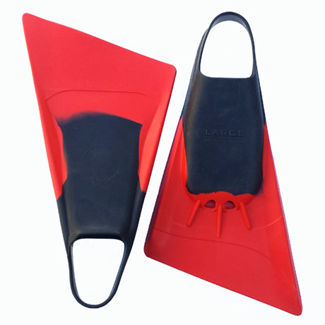 Rocket bodyboarding fins Red Black