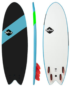"Softech Handshaped SB 5' 4"" Quad soft surfboard black"