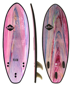 "Softech Flash DSS 5' 7"" Soft surfboard Pink"