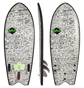 "Softech Kyuss king rocket fish 4' 8"" soft surfboard"