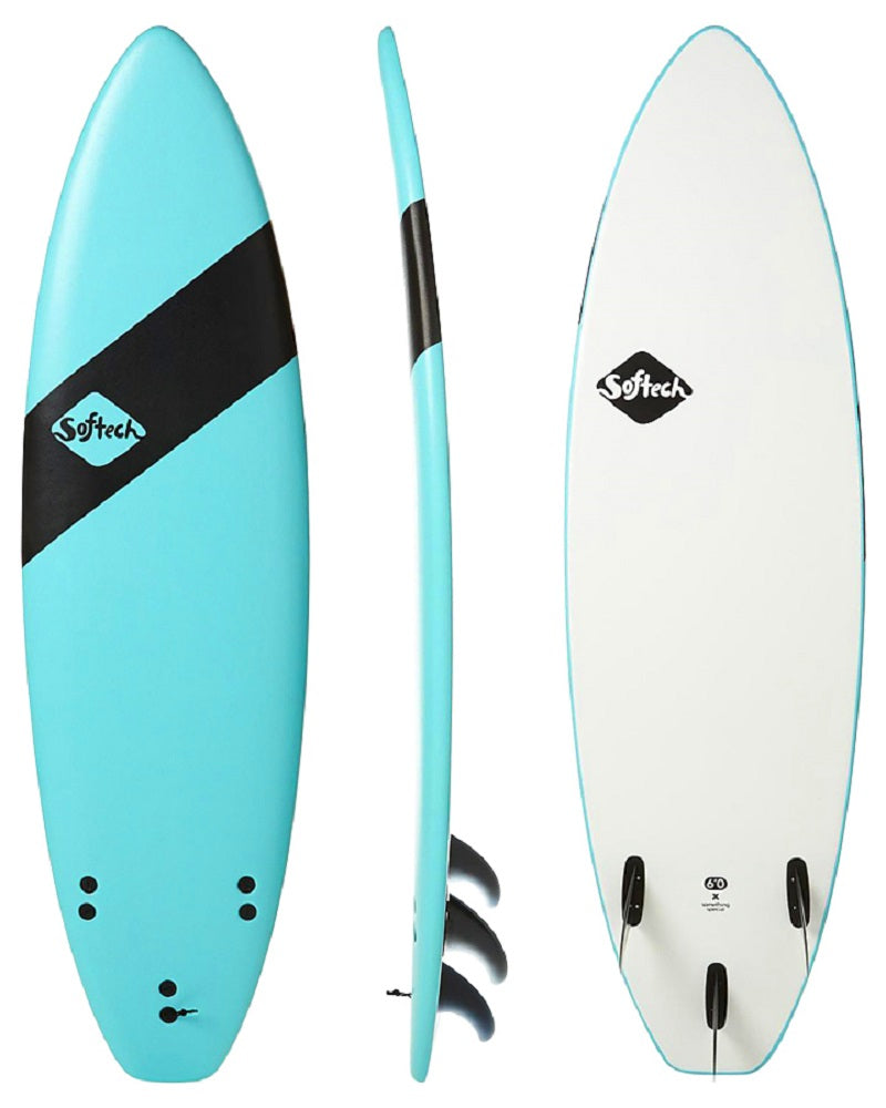 Softech TC Handshaped 6' soft surfboard Blue